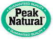 Peak Natural™ Guaranteed Quality.