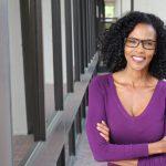 Portrait of professional black businesswoman.