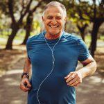 older man jogging