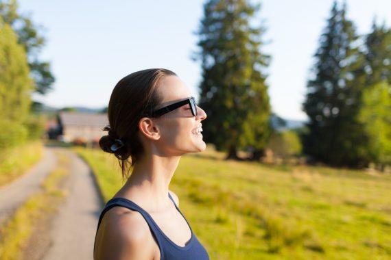 woman getting fresh air
